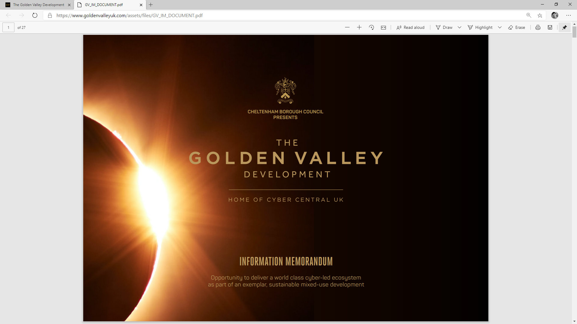 Golden Valley Development Website/Partner/Investors/Developres/Document by Tang Marketing