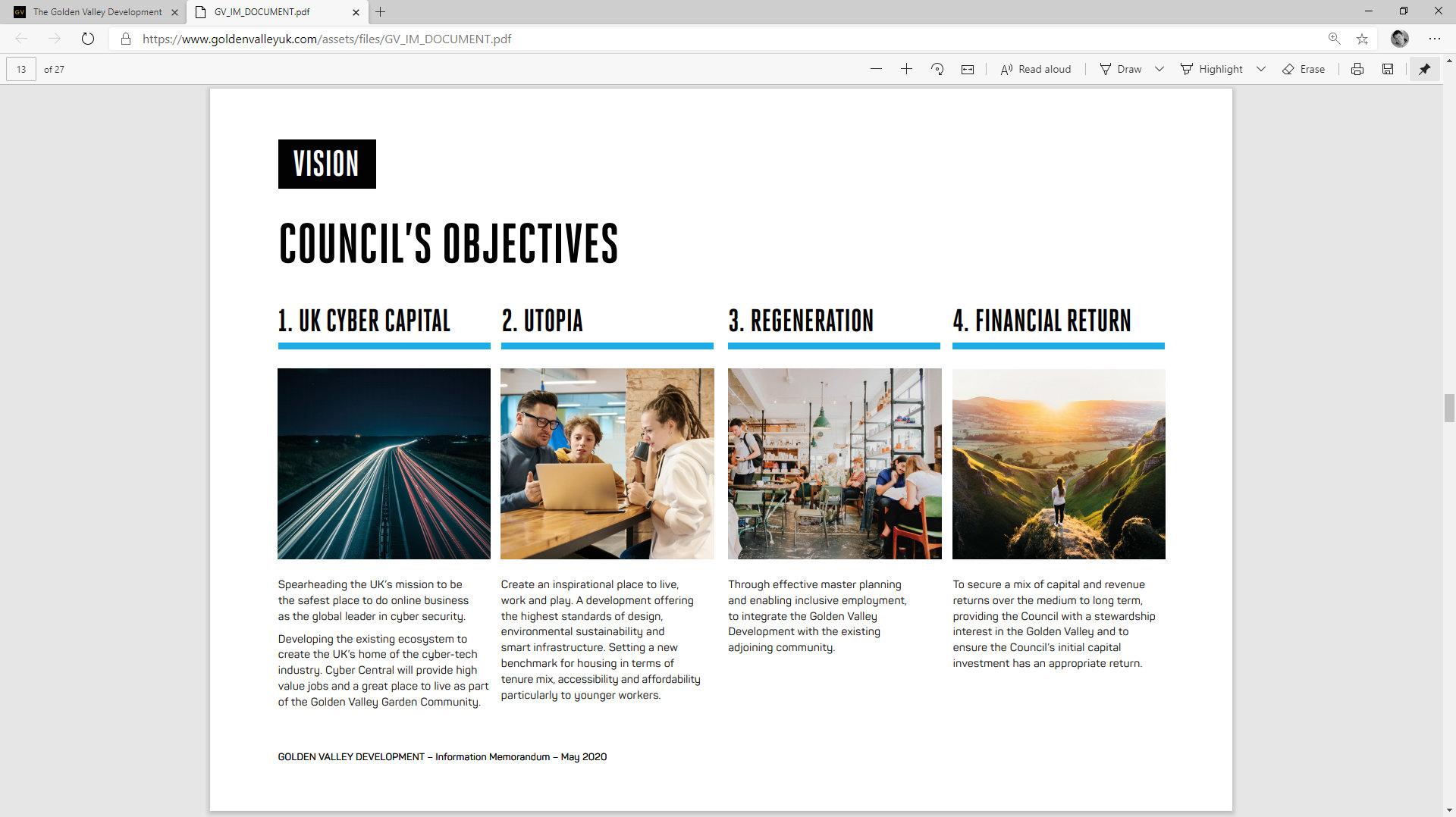 Golden Valley Development Website/Partner/Investors/Developres/Document by Tang Marketing