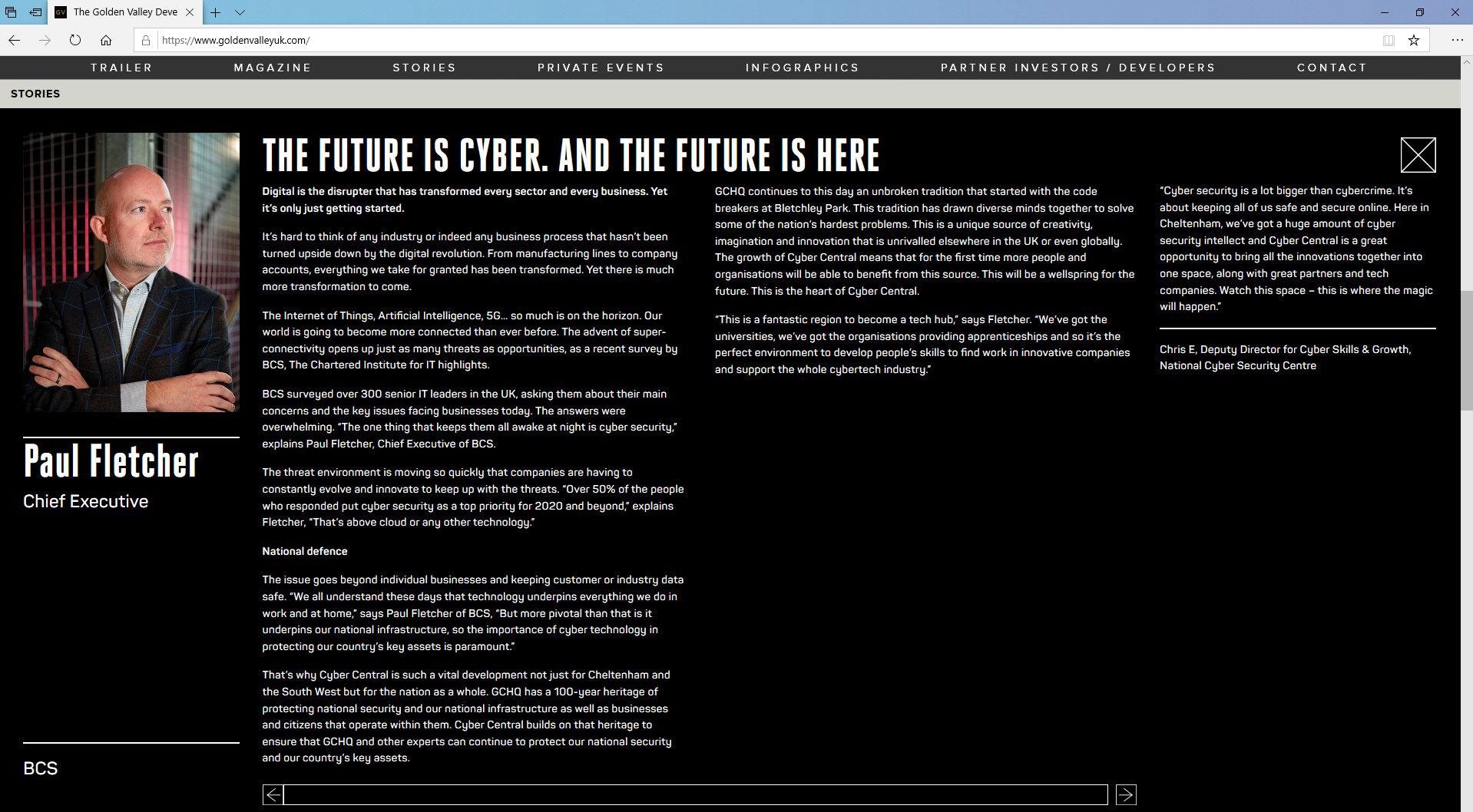 Golden Valley Development Website/Stories by Tang Marketing