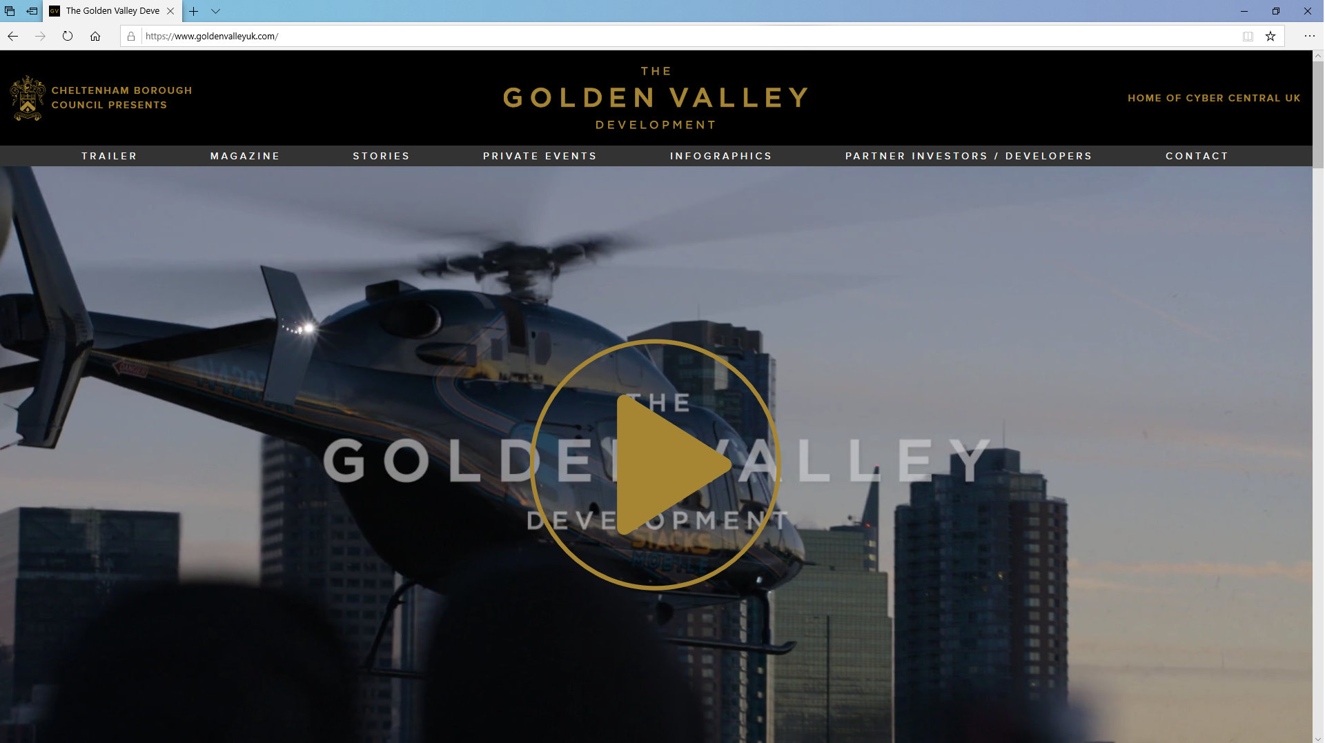 Golden Valley Development Website/Trailer by Tang Marketing