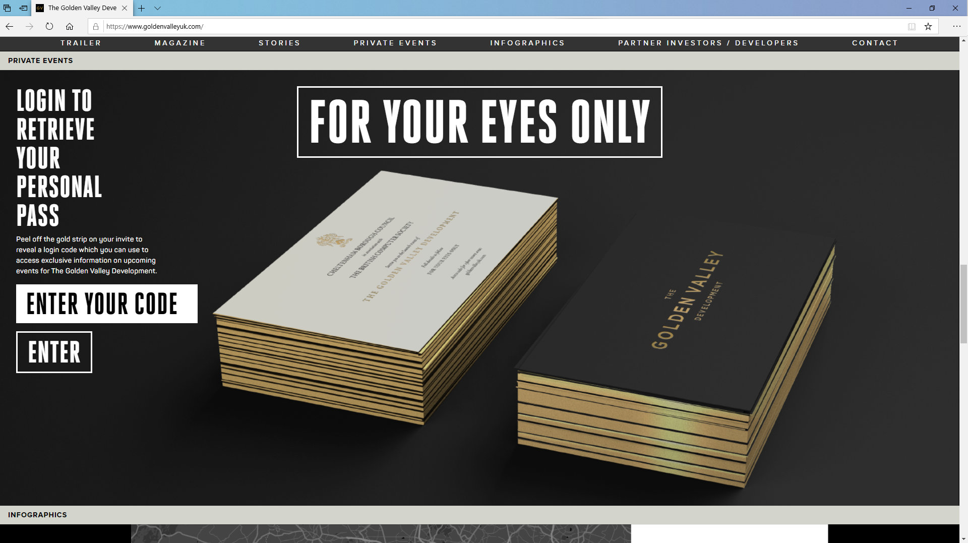 Golden Valley Development Website/Private Events by Tang Marketing