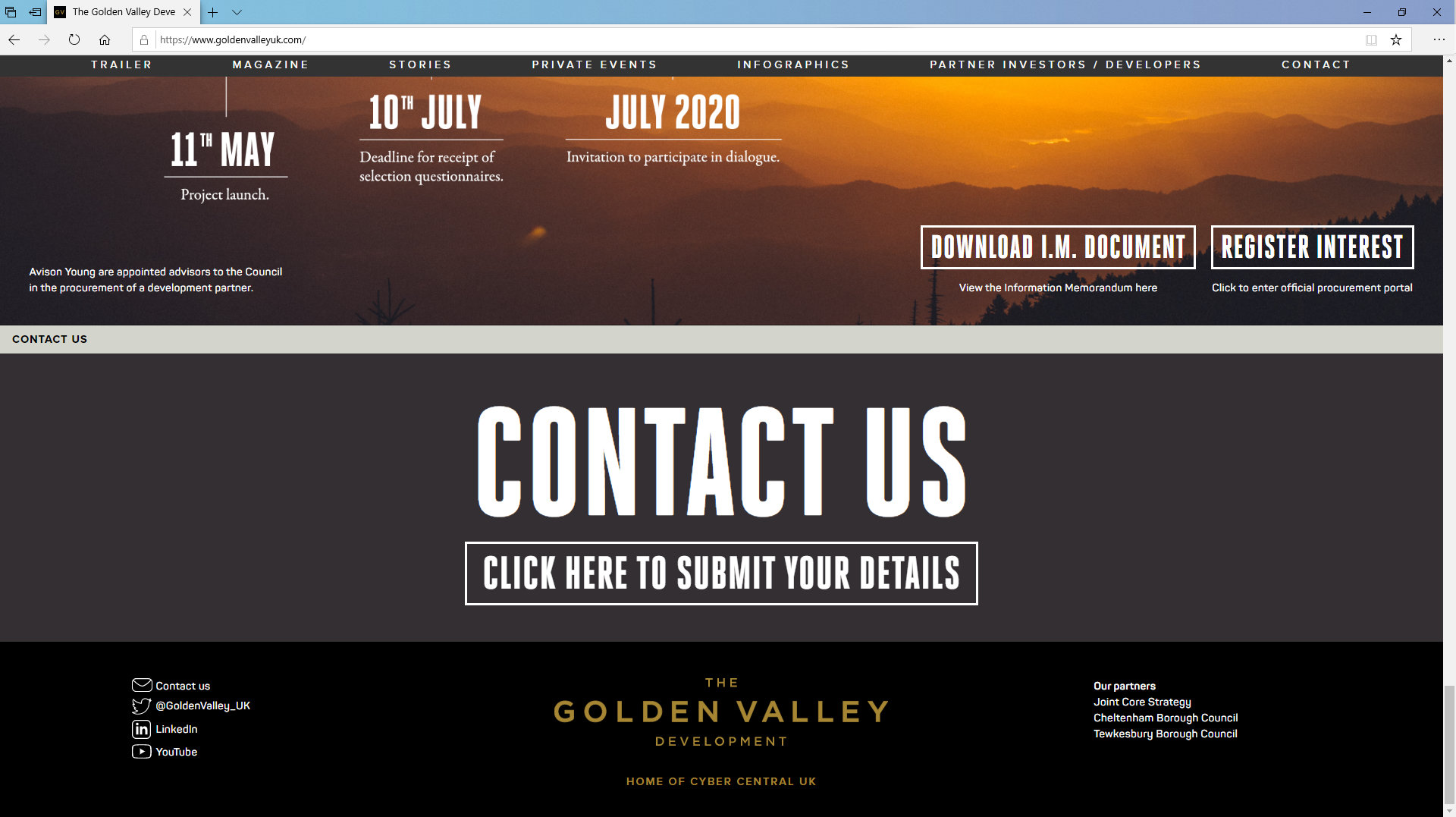 Golden Valley Development Website/Contact by Tang Marketing