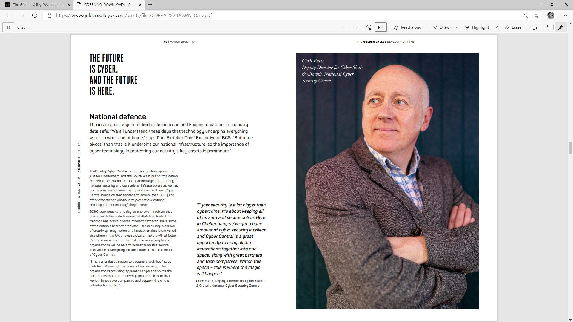 Golden Valley Development Website/Magazine by Tang Marketing