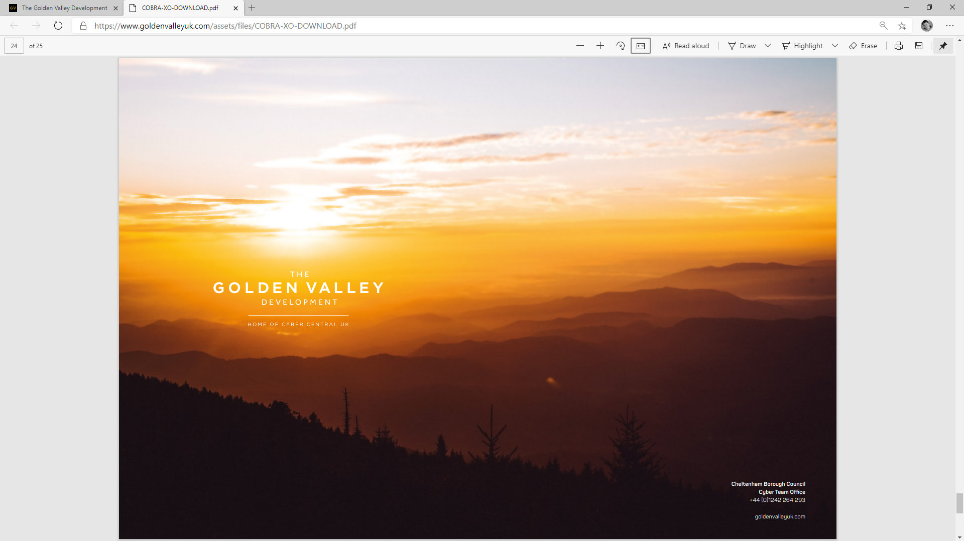 Golden Valley Development Website/Magazine by Tang Marketing