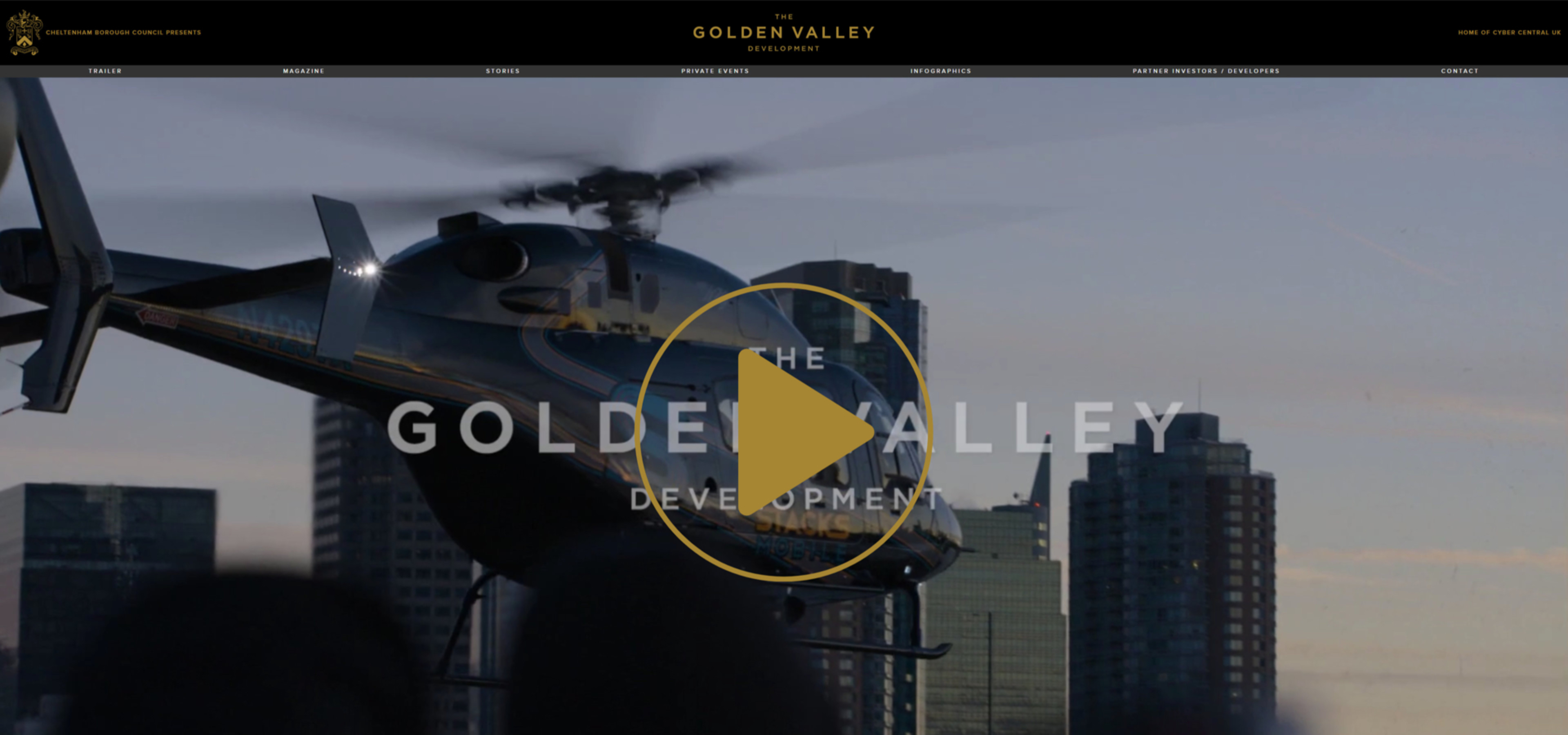 Golden Valley Development | Cyber Central UK | Website Build 2020 | Tang Marketing