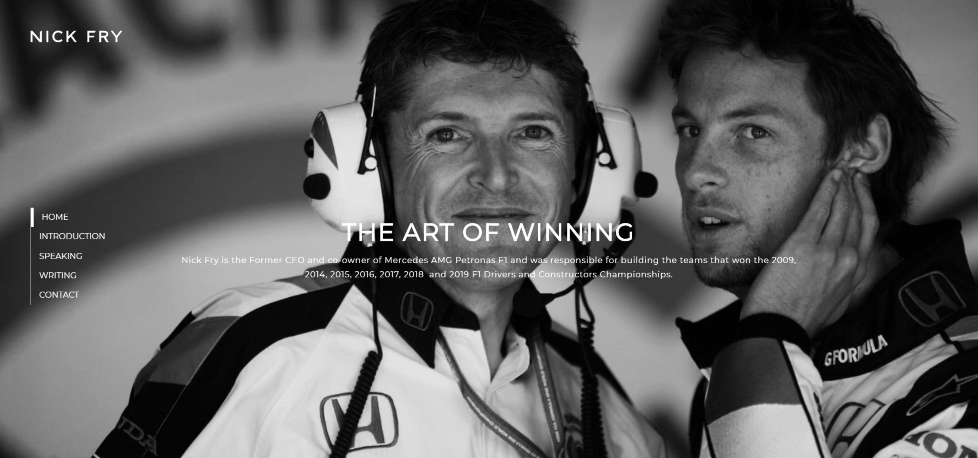 Nick Fry | F1 | Website Design 2019 | Tang Marketing